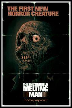 The Incredible Melting Man - poster Horror Movie Posters, Cinema Posters, Movie Poster Art, Film Posters, Sci Fi Horror, Arte Horror, Horror Art, Comics Vintage, Vintage Movies