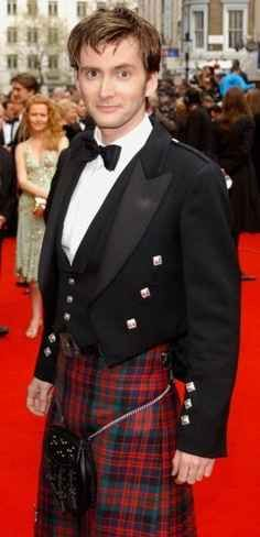 There's Presumably Nothing Beneath That Kilt. | 27 Photos Of David Tennant That Will Make Your Panties Drop.