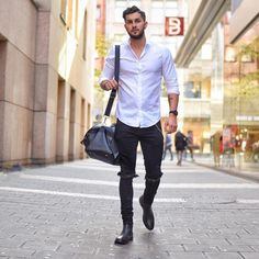 White Shirt Outfit Ideas for Men #men #outfits #UrbanMenOutfits #menfashion