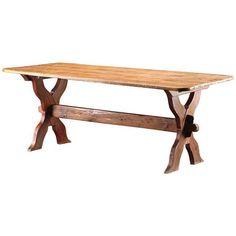 Danish Antique Trestle Table