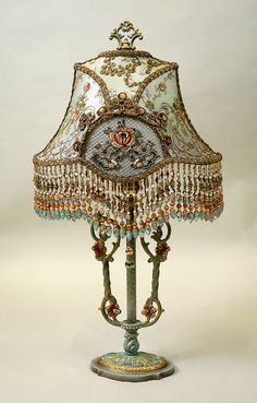 Marie Antionette Style Victorian Lampshade....ohhhhh....I love this❣   ♥❣♥❣♥❣♥❣♥❣♥