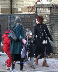 Helena Bonham Carter and Billy Burton Photo - Helena Bonham Carter and Tim Burton in North London