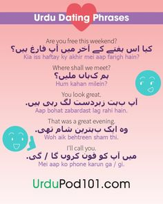 Urdu dating phrases