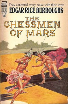 Edgar Rice Burroughs: The chessmen of Mars.  Ace 1962.  Cover by Roy Krenkel, jr.