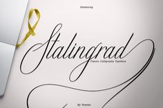 Stalingrad Classic Calligraphy Fonts NEW ! It's an Classic typeface. Stalingrad Script, including swashes, ligatures,A by Teweka Font Maker, Font Packs, Beautiful Fonts, Pretty Fonts, Character Map, Illustrator Cs, Calligraphy Fonts, Script Fonts, Freelance Graphic Design