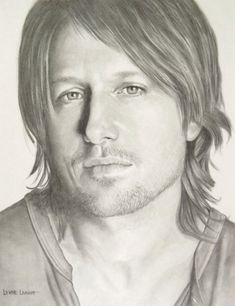 Excellent likeness!!! And I love Kieth Urban! Custom Drawing Pencil Portrait Keith Urban by LynneLeavitt on Etsy, $100.00
