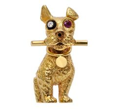 Cartier -- A Ruby, Diamond and Gold Dog Brooch