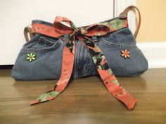 Hey, I found this really awesome Etsy listing at https://www.etsy.com/listing/169657443/denim-purse-hand-crafted-reused-recycled