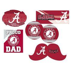Alabama Crimson Tide Proud Dad 6-Piece Decal Set, Multicolor