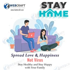 Spread Love and Happiness, Not Virus. Stay Happy and Healthy With your Family. If you want to promote your business online, we help you with digital marketing services. Contact us today!!! Email - marketing@3webcraft.com #DigitalMarketing #COVID19 Digital Media Marketing, Digital Marketing Services, Email Marketing, Stay Happy, Spread Love, Promote Your Business, Your Family, How To Stay Healthy, Online Business