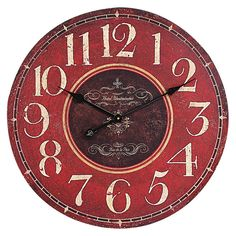 Oversized Wall Clock - Red