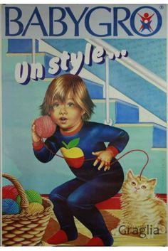 Vintage poster Babygro - Un style, 1975