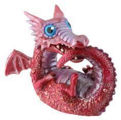 Real Baby Dragons   Red Baby Dragon Statue Figure Winged Fantasy Décor