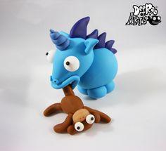 Sonic the Hedgehog Unicorn eating a monkey by Dee Raa Arts polymer clay cute kawaii sculpey fimo https://www.facebook.com/DeeRaaArts
