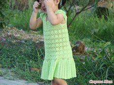 Mis Pasatiempos Amo el Crochet: Punto para vestido de niña