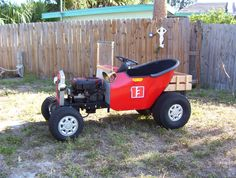 Rat Rod Lawn Mower | Took it down the street the other night to pick up some Chinese food ...