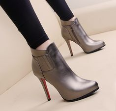 Low Ankle Boots, High Heel Boots, Heeled Boots, Bootie Boots, Shoe Boots, High Heels, Shoes Heels, Trendy Shoes, Cute Shoes