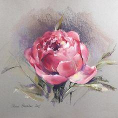55 Best Ideas for flowers pastell sketch Flower Painting, Rose Painting, Pastel Art, Soft Pastel Art, Pastel Drawing, Pastel Painting, Floral Art, Veggie Art