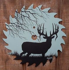 Hand-Painted-Saw-Blade-7-1-4-Whitetail-Deer-Silhouette-D
