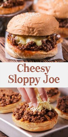 Try making this cheesy sloppy joe burger! The best thing about sloppy joe is we don't care if it's messy. Using some twist by adding Indonesian chili sauce, elevate the taste to another level. Delicious Dinner Recipes, Lunch Recipes, Cooking Recipes, Sandwich Recipes, Meat Sandwich, Savoury Recipes, Savory Snacks, Sloppy Joe Burger, Sloppy Joes Recipe