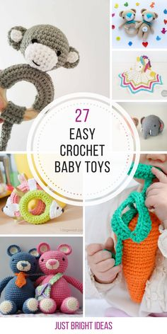 These easy crochet baby toys will make the perfect baby shower gift! Thanks for sharing!