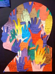Intro with a book about dreams for the future - Nelson Mandela?  Add line and pattern to these hands. iPads to create text and paste on. See 3/4 mural of hands