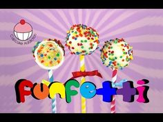 Make FUNFETTI Cake Pops! A Rainbow of Sprinkles Inside & Out! Learn how to make these delicious treats, and heaps more at Mycupcakeaddiction!