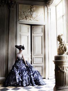 Kristen Stewart by Mario Testino via dustjacket attic. A modern day take on the feeling of Trianon.