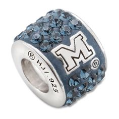 Solid 925 Sterling Silver Official University of Memphis Small Pendant Charm 17mm x 13mm