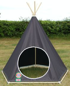 All Black Style - Children's Play Teepee / Tipi / Tent by: www.mohicantents.co.uk