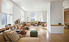 Interior design by Rose Tarlow | Architecture by Richard Meier