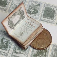 1:12 Miniature muses book by WeLoveMiniatures on Etsy