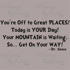 -Dr Seuss - our inspiration!