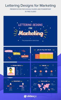 Lettering Designs for Marketing Google Slides & PPT template