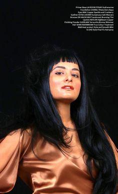 model - rhea khan . fashion photography . make up copper bronze . ghd hair . #hair #copper #fashion #makeup