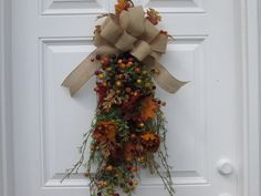 Fall Decor Swag. Autumn Floral and Berry by AutumnsEchoShoppe