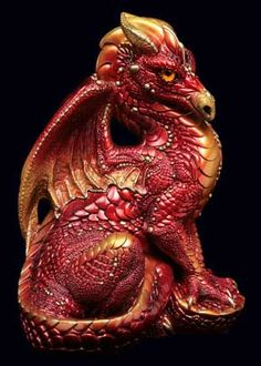 Male Dragon - Red Fire