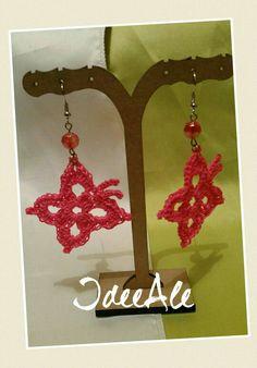 Butterfly earrings crochet