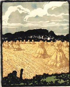 Arie Zonneveld (1905-1941) Dutch woodblock and linoleum printer