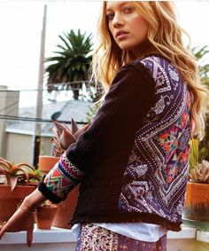 Lou Lou Jacket by Billabong. Embellished bohemian statement piece for the cooler months.