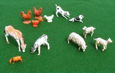 1960s Farm Animals  Vintage Miniatures