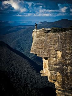 On top of Blue Mountains in New South Wales