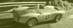 Porsche 550 Spyder (Revell) in my Slot Car Track #porsche #550 #spyder #porschefan #germancar #revell #SlotCarTrack #slot #hobby #scenary #slotcar #alotslot #scalextric #scx #ninco #carrera #slotit #rally #rallycar #racing #race #dreamcar #wrc #gp #gt #f1 #lemans #diorama #scale132 #hobby #modelism #diecast  #miniature #oldcar #sepia