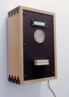 Automated Poetry Machine Lockers, Locker Storage, Clock, Cabinet, Brown, Wall, Furniture, Design, Home Decor