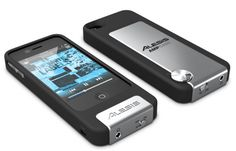Alesis AmpCase: AmpCase receives a direct injection of unadulterated, noise-free audio directly from your iPhone's 30-pin dock connector. This unrestricted and uncolored signal enables you to enjoy the full dynamic range of any song. Alesis DSP technology pushes the best output to your headphones, with improved presence, punch and power.
