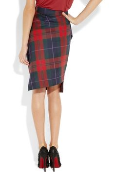 a23a3fd3e1 VIVIENNE WESTWOOD ANGLOMANIA Philosophy tartan wool pencil skirt $355  #tartan #westwood