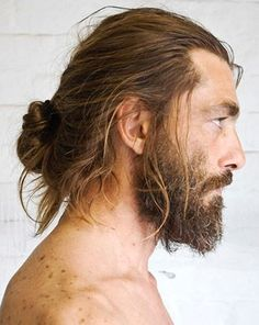 Bearded~still loving the beards with buns. He is stunning. I do love a good beard