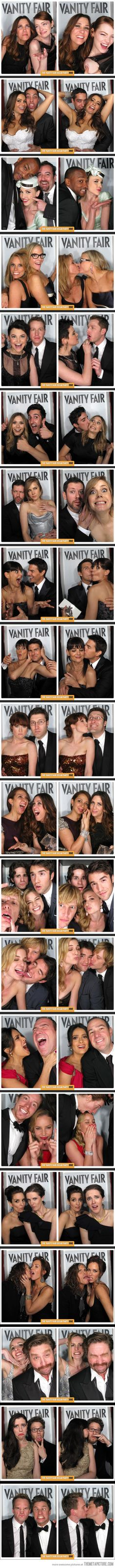 Photo Booth pictures from the Vanity Fair Oscar party - Love these!