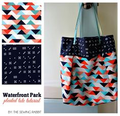 Waterfront Park Pleated Tote with Hidden Pocket