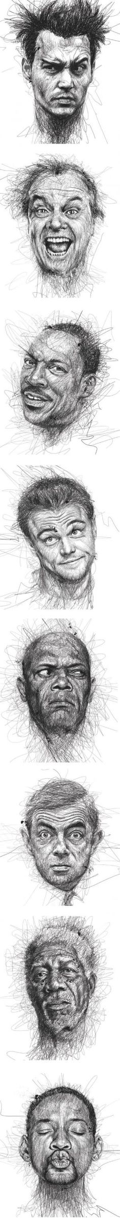 Amazing face sketches by Vince Low by clarissa